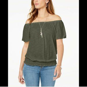Style & Co Women's Plus Size Off-the-Shoulder Top